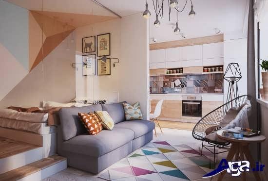 طراحی اتاق نشیمن خانه های 50 متری