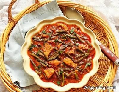 روش پخت خورش لوبیا سبز