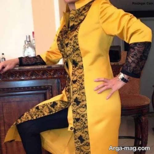 مدل مانتوی ایرانی رنگی