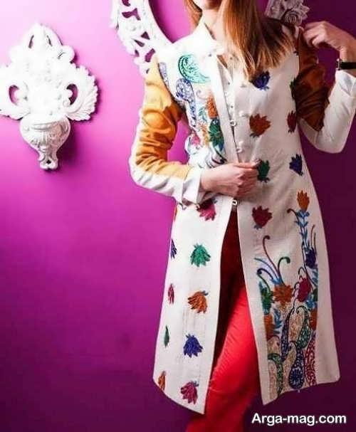 مدل مانتو ایرانی طرحدار