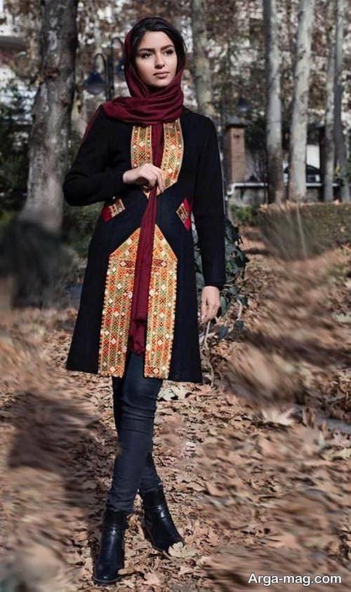 مدلی زیبا از مانتوی ایرانی