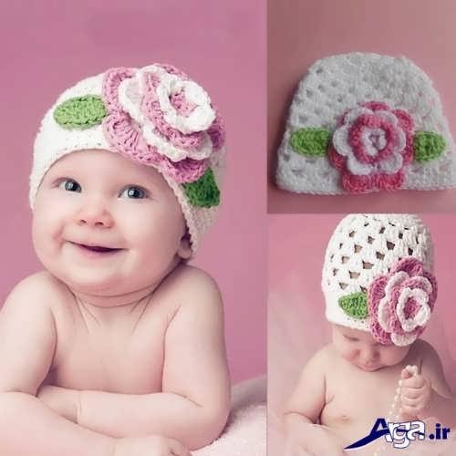مدل کلاه بافتنی نوزاد با طرح های شیک