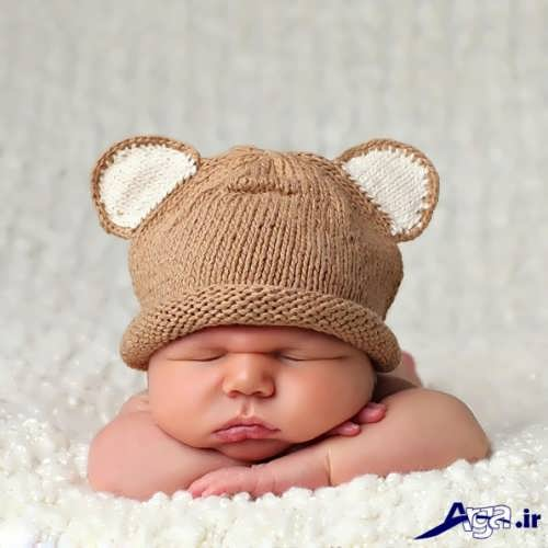 مدل های کلاه بافتنی نوزاد دختر و پسر