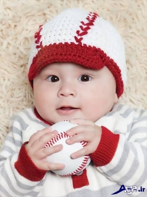 مدل کلاه بافتنی پسرانه نوزادی