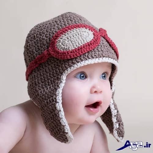 کلاه بافتنی نوزاد شیک و زیبا