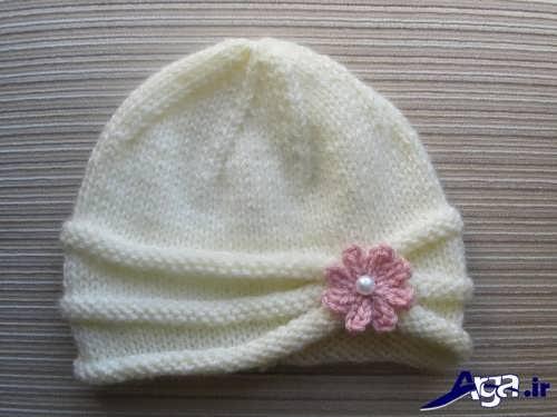 کلاه بافتنی نوزاد با طرح های زیبا