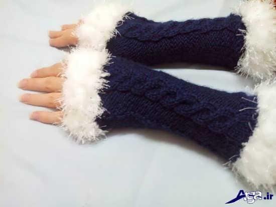 مدل دستکش بافتنی تک انگشتی