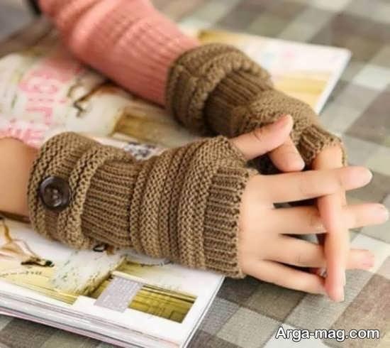 روش بافت دستکش با دو میل