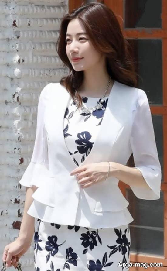 مدل کت دامن کره ای سفید