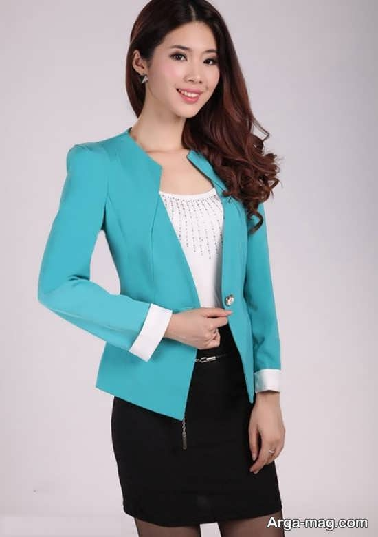 مدل کت دامن کره ای آبی