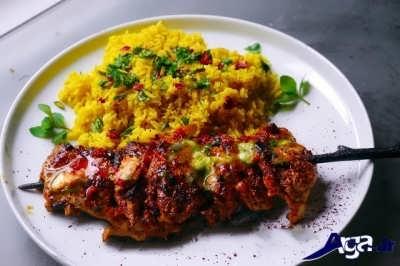 جوجه کباب لبنانی خوشمزه