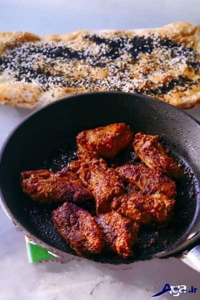 جوجه کباب تابه ای لبنانی