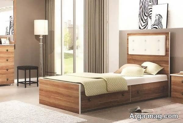 مدل زیبای تخت خواب ام دی اف