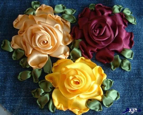 مدل گل رز پارچه ایی