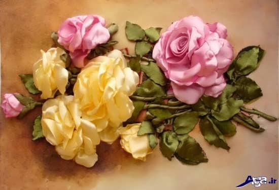 ساخت گل رز زیبا با روبان