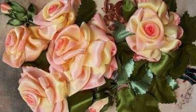 آموزش ساخت گل با روبان