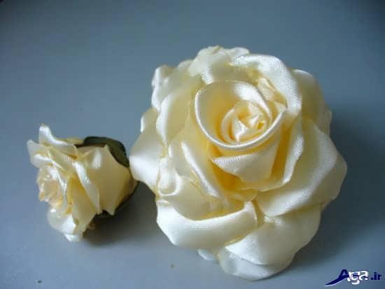 درست کردن گل با روبان