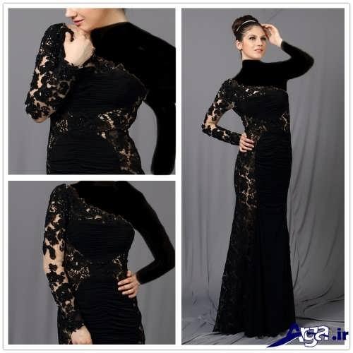 مدل لباس شب پوشیده ترکیه ای دخترانه