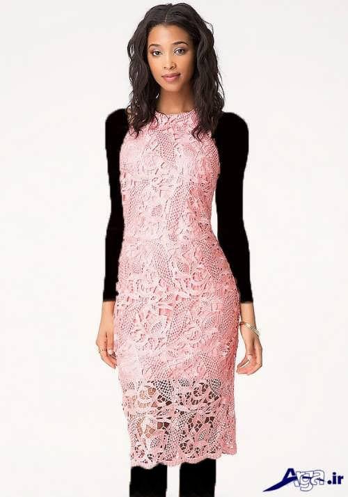 لباس شب گیپور دخترانه با جدیدترین طرح های مد سال