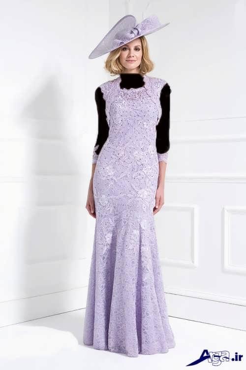مدل لباس شب گیپور بلند