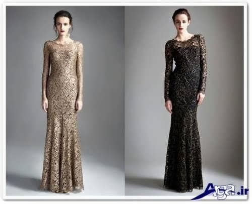 مدل لباس شب گیپور با طرح های کوتاه و بلند