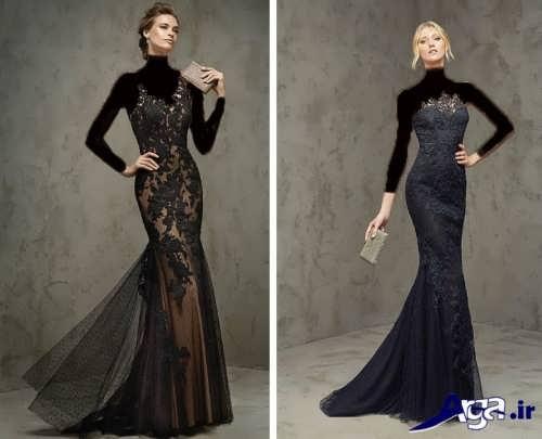 مدل لباس شب بلند گیپور