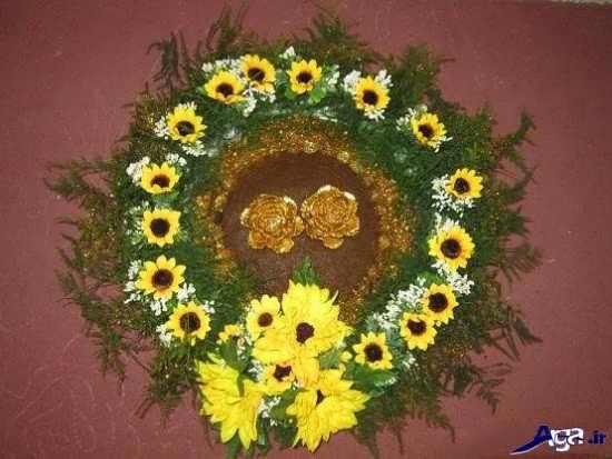 تزیین حنا عروس با گل