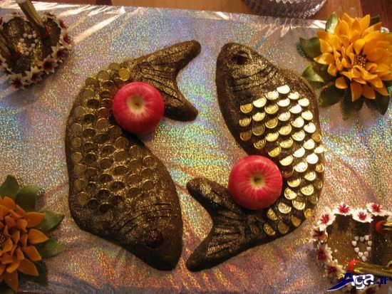 تزیین حنا به شکل ماهی