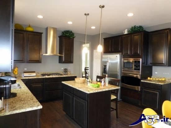 مدل دکوراسیون آشپزخانه با طراحی شیک و متفاوت