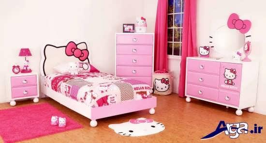 مدل تخت خواب دخترانه بچه گانه
