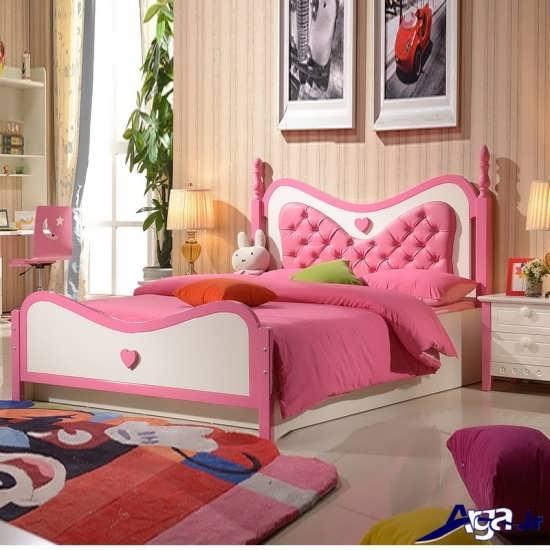 مدل تخت یک نفره دخترانه شیک و زیبا