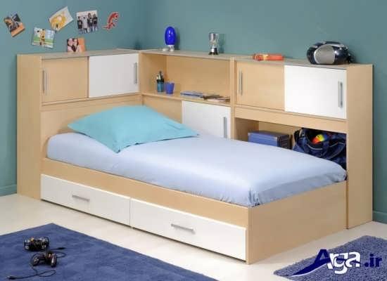 مدل تخت تک نفره دخترانه و زنانه