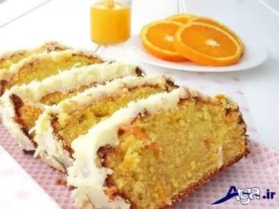 کیک پرتقالی خوشمزه و خوش طعم