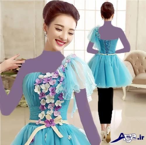 مدل لباس پرنسسی کوتاه دخترانه
