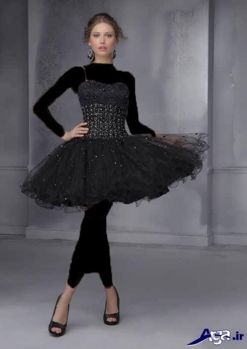 مدل لباس پرنسسی مشکی کوتاه