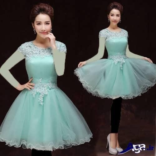 طرح های کوتاه لباس پرنسسی