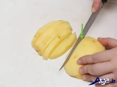 خرد کردن سیب زمینی ها
