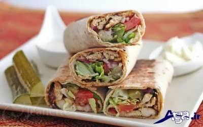 شاورما مرغ خوشمزه و لذیذ برای مهمانی های کوچک