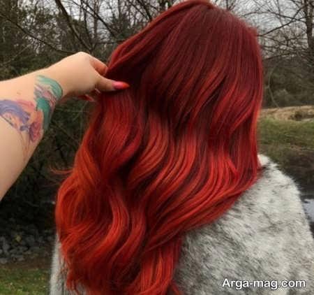 رنگ مو قرمز دارچینی