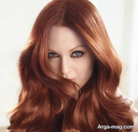 رنگ مو قرمز زیبا