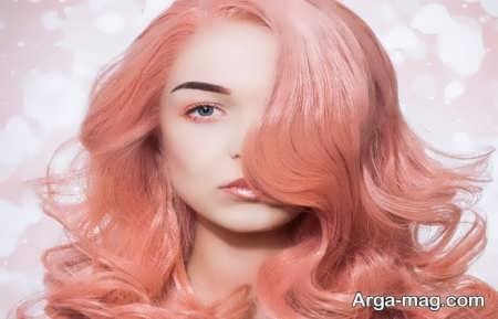رنگ موی قرمز مرجانی