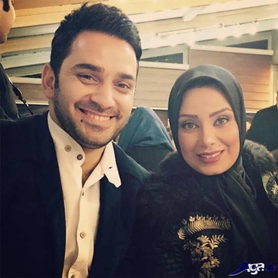 صبا راد و همسرش