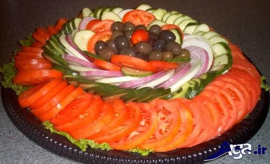 تزیین سالاد سبزیجات مجلسی