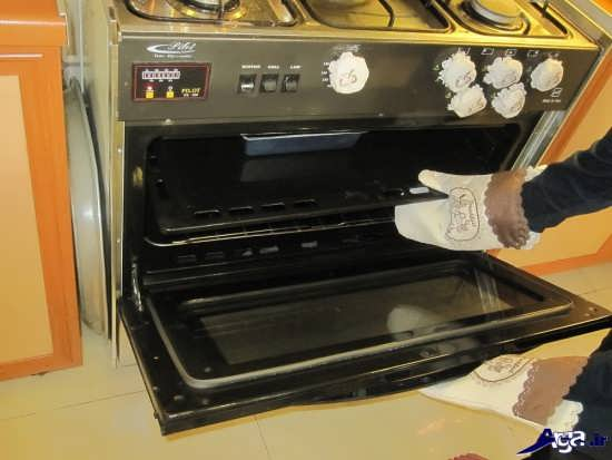 مدل دستکش آشپزخانه عروس