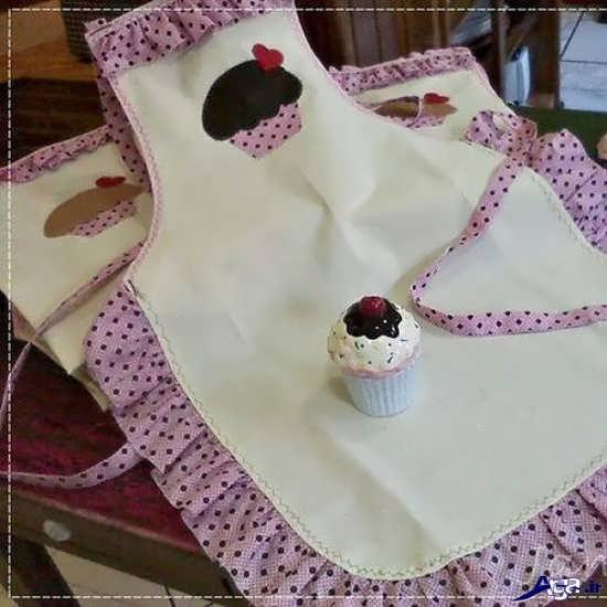 مدل پیش بند پارچه ای عروس
