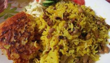 طرز تهیه لوبیا پلو شیرازی