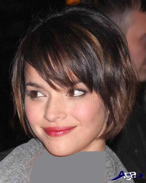 مدل موی زیبا و متفاوت برای صورت گرد