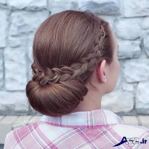 مدل موی دخترانه بسته زیبا