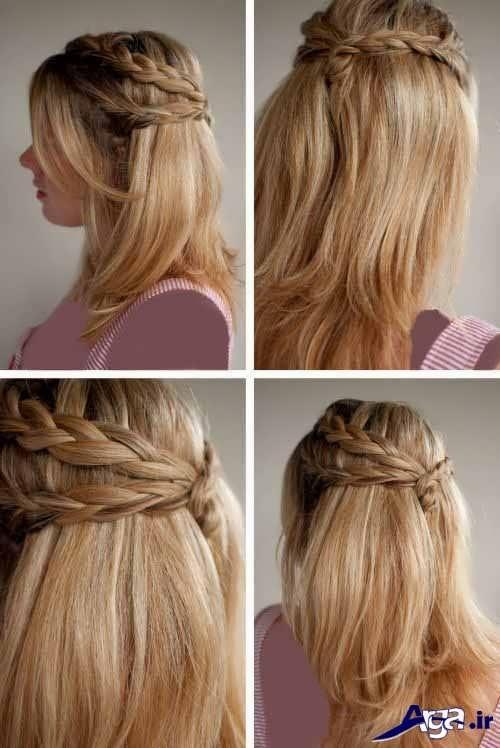 مدل موی ساده برای مهمانی مخصوص خانم های زیبا