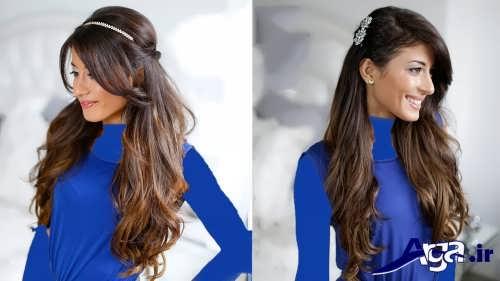 مدل موی باز زنانه ساده
